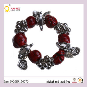 Red Turquoise Bracelet with Charm Accessories, Gift for Mother Turquoise Bracelet pictures & photos