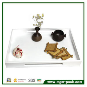 Simple Hight Glossy Lacquered Wooden Tray for Daily Supplies pictures & photos