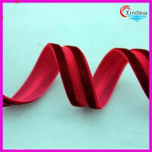 High Quality of Polyester Velvet Ribbon pictures & photos
