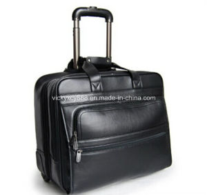 Genuine Leather Wheeled Trolley Boarding Bag Flight Case (CY9962) pictures & photos