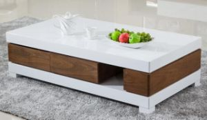 Latest Design Wooden Marble Coffee Table (1229) pictures & photos