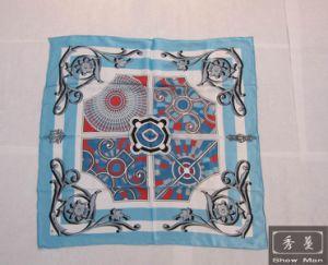 100% Pure Silk Fashion Screen Printed Square Scarf/Shawl