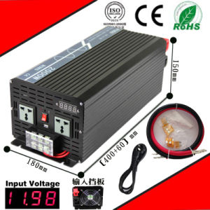2000W DC-AC Inverter 12VDC or 24VDC 48VDC to 110VAC or 220VAC Pure Sine Wave Inverter with AC Charge pictures & photos