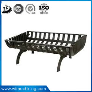 Customized Wrought Iron Casting European Style Mini Electric Fireplace Used in Winter pictures & photos