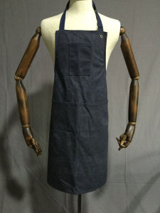 Custom Waterproof Waxed Canvas Work Bib Apron with Webbing Straps pictures & photos