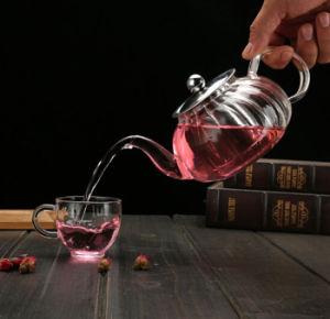 650ml New Design Nampkin Heat Resistance Glass Teapot pictures & photos