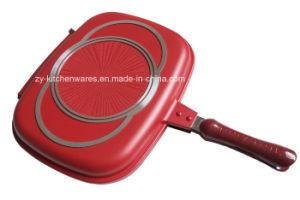 Cast Aluminum Kitchen-Implements-Double Presure Grill Pan