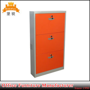 Metal 3 Layer Shoe Cabinet Metal Shoe Rack pictures & photos