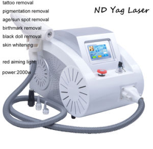 Ce Approval ND YAG Laser Tattoo Removal Pigmentation Removal Beauty Machine Equipment pictures & photos