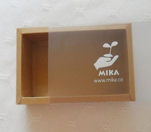 Kraft Paper Card Premium Box with PVC Sleeve pictures & photos