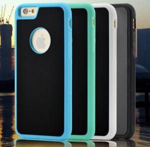 Hand Free PC+TPU iPhone 7 Nano Suction Magical Anti Gravity Case with Round Logo Hole pictures & photos