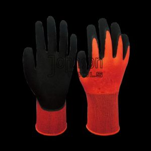 13G Polyester Latex Coated Gloves for Factory Use pictures & photos