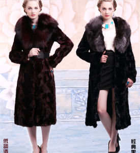 Fashion High-End Long Style Real Fox Fur Coat (Qy-V2) pictures & photos