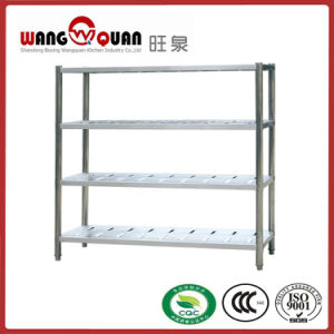Demountable Upright 4 Tier Lattice Stainless Steel Shelf with Punched Panel pictures & photos