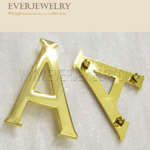 Gold Letters Custom Metal Plates Brand Logos pictures & photos