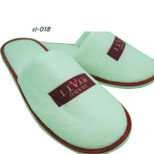 Hotel Amenity Slippers 5 Hotel Slipper Factory OEM Terry Towel Slipper pictures & photos