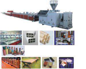 PVC WPC Building Template/Sleeper Board Extrusion Line pictures & photos