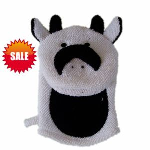 Cow Embroidery Exfoliating Children Bath Glove (KLB-117) pictures & photos