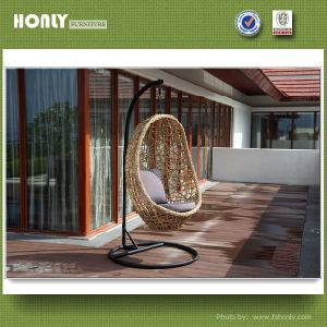 Perfect Patio Metal Wicker Hanging Chair Outdoor Rattan Egg Swing Chair