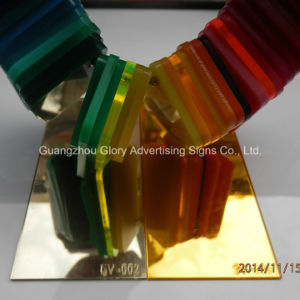 Plexiglass Silver and Golden Acrylic Mirror Sheet and Mirror Board pictures & photos