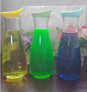 Milk Glass Bottles for Furit Juice with Plastic Lid, Glass Jars for Milk, Food pictures & photos