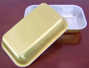 Disposable Inflight Golden Aluminum Foil Container
