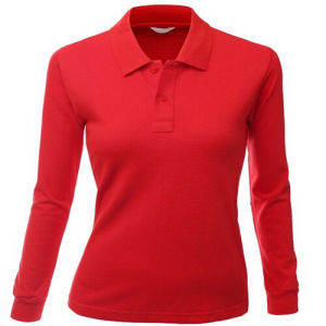 Lady′s Long Sleeve Polo Shirt for Women pictures & photos