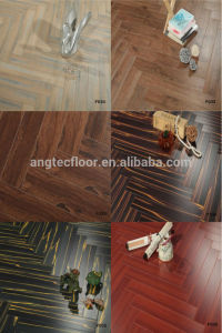 H02#-600*100*12.3 Cheap Price Wood Harringbone Laminated Flooring pictures & photos