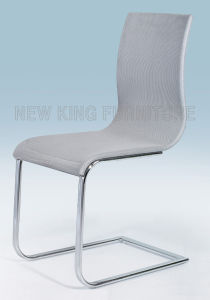 Modern Cheap Fashion Chrome Steel Foot Mesh Fabric Dining Chair (NK-DC052)