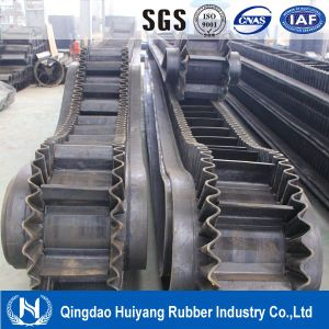Sidewall Rubber Conveyor Belt for Bucket Elevator in Mixer Station pictures & photos