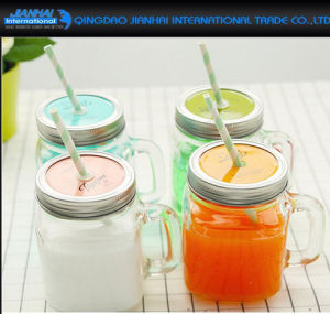 Hot-Sale Household Glass Mason Jar Bottle with Printing Service pictures & photos