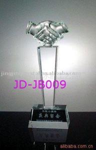 Crystal Glass Iceberg Award--Handshake Shape (JD-JB-014) pictures & photos