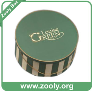 Large Printed Round Cardboard Hat Box with Handle (ZH002) pictures & photos
