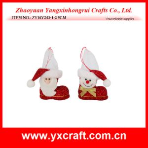 Christmas Decoration (ZY16Y241-1-2-3-4 12.5CM) Christmas Boot Sweet Gift Felt Christmas Boot pictures & photos
