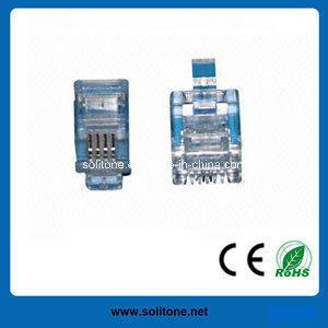 Rj11 Telephone Modular Plug for 4p4c (ST-CAT3-U4P4C) pictures & photos