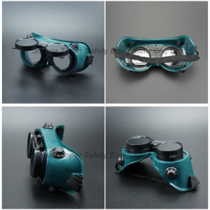 Flip-up Front Round Lens Welding Goggles (WG113) pictures & photos