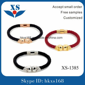 New Style Handmade Black Leather Bracelet for Men