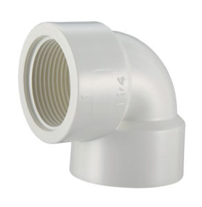 PVC-U BS Theraded Pipe Fittings Female Elbow pictures & photos