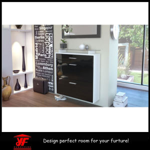 Multi-Purpose Hanging Mirror High Gloss Shoe Cabinet