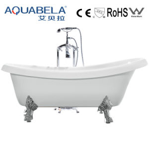 Common White Freestanding Bathtub with Foot (JL623) pictures & photos