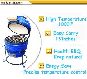 13 Inch Mini Egg Ceramic Charcoal Kamado BBQ Grill