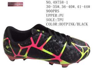 Hotpink Black Color Family Football Shoes pictures & photos