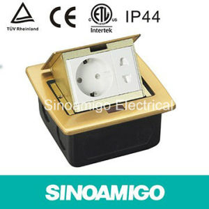 High Quality Pop-up Copper Florr Outlet Spu-5 Bs Socket Stainless Steel Floor Boxes with RJ45 pictures & photos