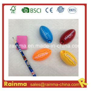 Plastic Rugby Shaped Kids Pencil Sharpener pictures & photos