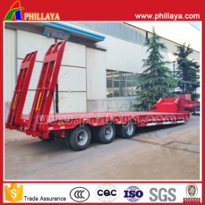 Cimc Tri Axle 40-50tons Lowboy Truck Low Bed Semi Trailer pictures & photos