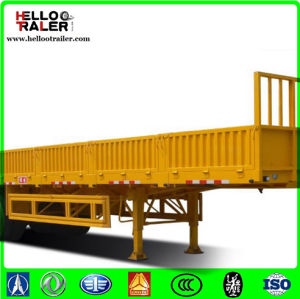 China 3 Axle Fence Cargo Truck Trailer Side Wall Cargo Box Semi-Trailer pictures & photos