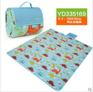 Wholesale Cartoon Printed Microfiber Picnic Blanket pictures & photos