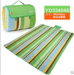 2016 Rural Blue-Green Color Bar Microfiber Picnic Blanket pictures & photos