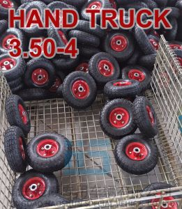 Hand Truck Tyre Trolley Tyre Pneumatic Barrow Wheel Tire 3.50-4 pictures & photos