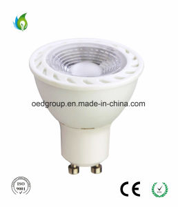 GU10 7W COB LED Cup with Ra. >80 and AC100-240V Spotlight Whole Sale with Cheap Price pictures & photos